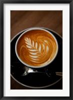 Framed Latte at Havana Coffee Works, Wellington, North Island, New Zealand