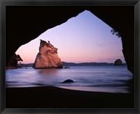 Framed Coastline, Cathedral Cove, Coromandel Peninsula, North Island, New Zealand