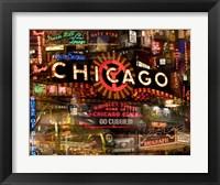 Framed Chicago Night