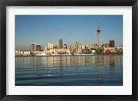 Framed Auckland CBD skyline, North Island, New Zealand