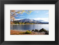 Framed Glendhu Bay, Lake Wanaka, Otago, South Island, New Zealand