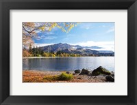 Framed Glendhu Bay, Lake Wanaka, Otago, South Island, New Zealand