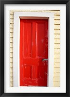 Framed Red Door, Sutton Railway Station, Otago, South Island, New Zealand