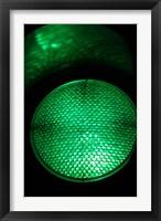 Framed Green Traffic Light, New Zealand