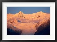 Framed Alpenglow, Fox Glacier Neve, South Island, New Zealand
