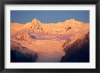Framed Alpenglow, Fox Glacier Neve, South Island, New Zealand