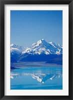 Framed Aoraki, Mt Cook and Lake Pukaki, South Canterbury, South Island, New Zealand