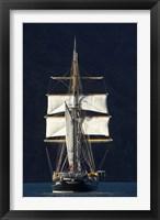 Framed Spirit of New Zealand Tall Ship, Marlborough Sounds, South Island, New Zealand