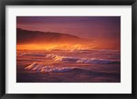 Framed St Clair Beach, Dunedin, New Zealand
