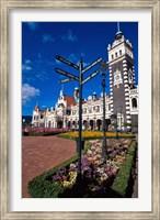 Framed Historic Railway Station building, Dunedin, New Zealand