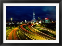 Framed Motorways and Skytower, Auckland