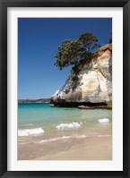 Framed Cathedral Cove, Coromandel Peninsula, North Island, New Zealand