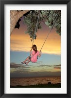 Framed Girl, Rope Swing, Family Fun, Thames, New Zealand