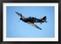 Framed Hawker Hurricane, British and allied WWII Fighter Plane