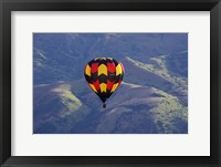Framed Hot Air Balloon and Mountains, South Island, New Zealand