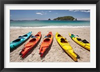 Framed Kayaks on Beach, Hahei, Coromandel Peninsula, North Island, New Zealand