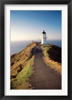 Framed Lighthouse of Cape Reigna, Northland, New Zealand