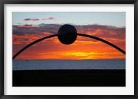 Framed Millennial Arch Ecliptic, Sunset, No Island, New Zealand