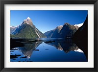 Framed Mitre Peak & Milford Sound, Fiordland National Park, New Zealand
