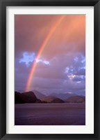 Framed New Zealand, Cascade Cove, Fiordland NP, Rainbow