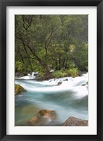 Framed New Zealand, North Island, Rapids on Tarawera River
