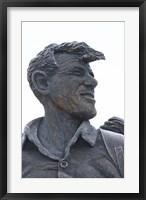 Framed Sir Edmund Hillary Statue, South Island, New Zealand