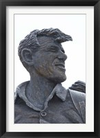 Framed Sir Edmund Hillary Statue, South Island, New Zealand