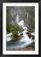 Framed Tarawera Falls, Tarawera River, North Island, New Zealand