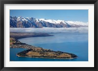 Framed Remarkables, Lake Wakatipu, and Queenstown, South Island, New Zealand