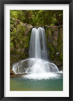 Framed Waiau Waterfall near 309 Road, Coromandel Peninsula, North Island, New Zealand