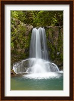 Framed Waiau Waterfall near 309 Road, Coromandel Peninsula, North Island, New Zealand