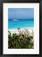 Framed Swimming the waters of Prickly Pear Island with Festiva Sailing Vacations