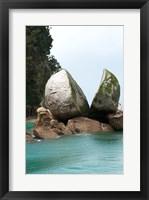 Framed Split Apple Rock, South Island, New Zealand