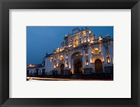 Framed Cathedral in Square, Antigua, Guatemala