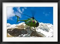 Framed New Zealand, Arrowsmith Range, Helicopter