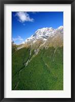 Framed New Zealand, Milford Sound, Majestic fjords, waterfalls