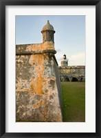Framed Puerto Rico, Walls and Turrets of El Morro Fort