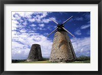 Framed Antigua, Betty's Hope, Suger plant, windmill