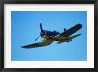 Framed Goodyear Corsair FG-1D  'whispering death' fighter bomber