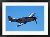 Framed P-51 Mustang, American Fighter Plane, War plane