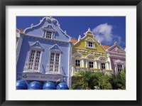 Framed Dutch Gabled Architecture, Oranjestad, Aruba, Caribbean