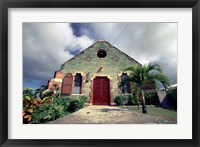 Framed Old Anglican Church, Liberta, Antigua, Caribbean