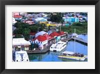 Framed Aerial View, St John, Antigua