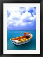 Framed Close-up of Fishing Boat, Aruba