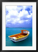 Framed Close-up of Fishing Boat, Aruba
