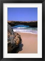Framed Natural Beach Bridge, Aruba, Caribbean