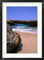 Framed Natural Beach Bridge, Aruba, Caribbean