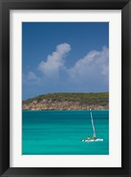 Framed Antigua, Dickenson Bay, Sailboat