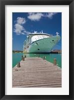 Framed Antigua, St Johns, Heritage Quay, Cruise ship