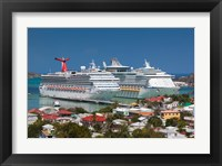 Framed Antigua, St Johns, Heritage Quay, Cruise ship area